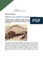 Pulacayo, 2000 años explot minera (D´ Mare, 2016)