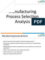 Student Copy-Manufacturing Process Selection