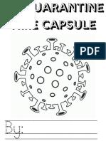 My Quarantine Time Capsule Printable