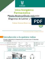 TEMA 5 Oxido-reducción- Diagrama de latimer y Metales alcalinos y alcalinoterreos