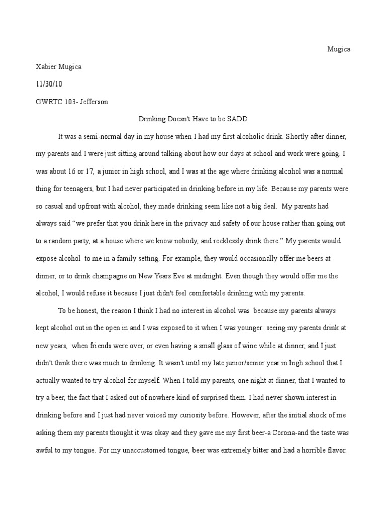 Thesis Examples For Argumentative Essays Essay In Mla Format Professional Academic Writing Help Drinking Drunk  Driving Solution Essay Short English Essays For Students also Examples Of A Thesis Statement For An Essay Persuasive Essay Over Drinking And Driving  Mistyhamel Thesis Statement For Definition Essay