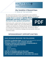 Loyalty Expo Sponsorship Packages