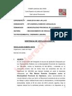SENTENCIA DE VISTA DE LA CAUSA REPOSICION  DE SERENO  CONTROL DIFUSO Exp.-4509-2019-LP