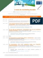 RDV Marketing Durable 26 Janvier 2010