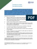 OIT - Lista de verificação das Ações COVID-19