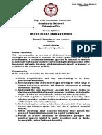 Course Syllabus - Investment Management