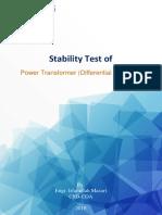 Stability test of Power Transformer