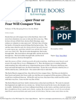 You Will Conquer Fear or Fear Will Conquer You - Ernest Angley (1992)