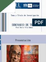 SEMANA 1 - USIL CPEL TEMA Y TITULO DE INVESTIGACIÓN.ppt
