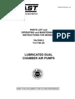 Gast Pump 10x1040-2 - 11x1740-2a Manual