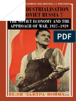 R. W. Davies, Mark Harrison, Oleg Khlevniuk, Stephen G. Wheatcroft - The Industrialisation of Soviet Russia 7-The Soviet Economy and the Approach of War, 1937–1939 (2018)