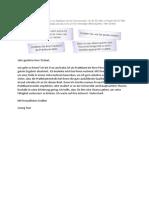 Brief für Praktikantenstelle