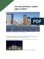 Energias limpias vs petroleo