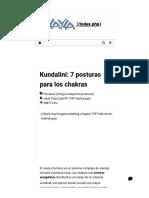 Kundalini_ 7 posturas para los chakras - Asociación de Instructores de Yoga Latinoamérica