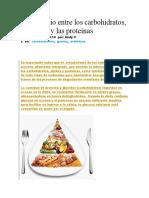 Intercambio de los carbo hidratos, grasas y proteinas