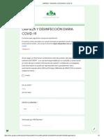 LIMPIEZA Y DESINFECCIÓN DIARIA COVID-19