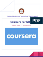 COURSERA for NIT-T