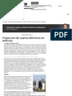 Protección de cuartos eléctricos en edificios