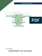 Ubl Swot & Pest Analysis
