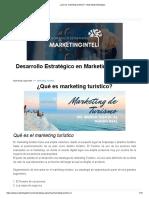 ¿Qué es marketing turístico_ - Marketing Estratégico