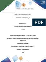 TAREA 1- PREPOSICIONES Y TABLAS DE VERDAD
