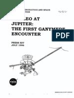 Galileo at Jupiter the First Ganymede Encounter Press Kit