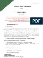 Grands Systèmes Juridiques Cours 2009-2010 Introduction