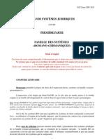 Grands Systèmes Juridiques Cours 2009-2010 Partie I Chapitre I