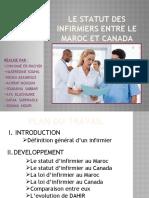 Deontologie-comparaison Entre Les Statuts Des Infirmiers Au Maroc Et Canada