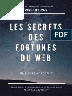 Les Secrets Des Fortunes Du Web - Vincent Mongis