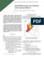 Análisis de vulnerabilidad sísmica en Colombia desde la Norma NSR-10