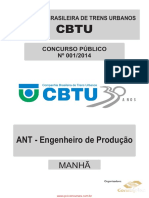 ANALISTA TÉCNICO _ANT - ENGENHEIRO DE PRODUÇÃO_
