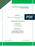 Admón Financiera-Proyecto DIMARVESA