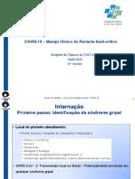 Manejo Clínico Paciente Semi-crítico COVID-19 - HC UNICAMP