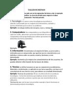 TALLER DE REPASO TECNOLOGIA MARIVEL