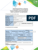 Guia de actividades Unidad 1 Etapa 1 Fundamentos de epidemiologia
