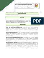 GI-ENF-PR-08  Manual de procedimientos Menores