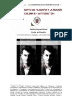 ADOLFO VASQUEZ ROCCA_ EL CONCEPTO DE FILOSOFIA EN WITTGENSTEIN; LA FUNCIÓN TERAPEUTICA Y LA NOCION DE PROBLEMA_UCM