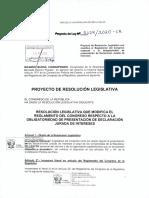 PL Obligatoriedad de Declaraciones Juradas de Congresistas