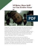 The Art Of Meta - How Self-Awareness Can Evolve Your Seduction