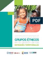 Grupos Étnicos en La Gestión de Las Entidades Territoriales