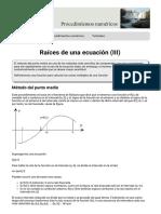 Raíces de una ecuación parte 3