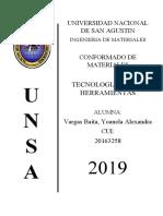 TECNOLOGIA DE LAS HERRAMIENTAS DE CORTE