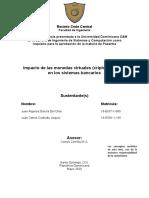 Anteproyecto pasantia (Impacto de las monedas virtuales en los sistemas bancarios) ARREGLADO