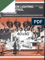 Strand Century Lighting 1066 Television Lighting & Control Package Brochure 6-77