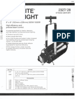 Strand Century Lighting 2327-2328 6x9-Inch Lekolite Ellipsoidal Spotlight Spec Sheet 6-77