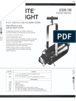 Strand Century Lighting 2335-2336 6x6-Inch Lekolite Ellipsoidal Spotlight Spec Sheet 6-77