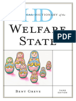 Historical Dictionary of the Welfare State, 3 edition