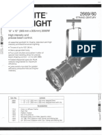 Strand Century Lighting 2669-2660 12x12-Inch Lekolite Ellipsoidal Spotlight Spec Sheet 6-77