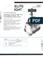 Strand Century Lighting 3342 6-Inch Fresnelite Spotlight Spec Sheet 6-77